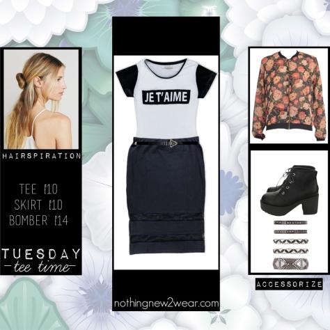 Tee £10  |  Skirt £10  |  Bomber £14